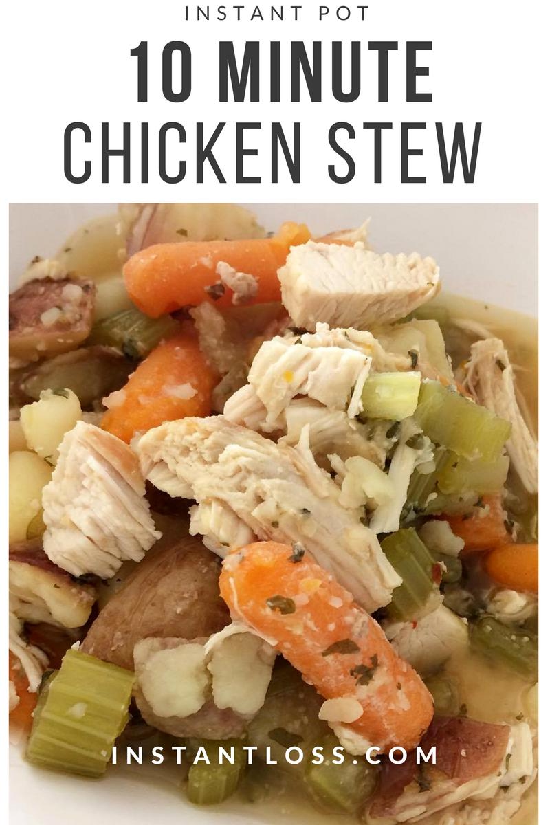 Instant Pot 10 Minute Chicken Stew